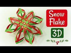 DIY ADORNO DE NAVIDAD FÁCIL. SNOW FLAKE