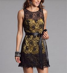 black and yellow. i love this dress!