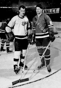 Gordie and Vic Howe