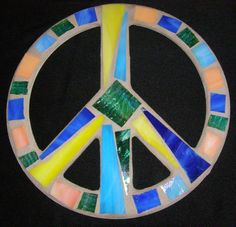 Stained Glass Peace Sign Peace Sign Wall Art by breakitupdesigns