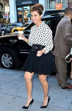 Kourtney Kardashian seen on the streets of Manhattan on September 13, 2012 in New York City.