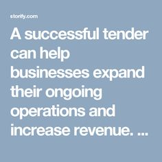 A successful tender can help businesses expand their ongoing operations and increase revenue. But to get that lucrative #contract, you need to take care of a number of factors like complying with mandatory tender requirements, checking the #tender lodgement details and instructions, etc.