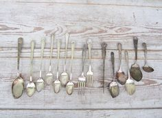 Silver Plate Flatware Collection by momentofnostalgia on Etsy. Home & Living  Kitchen & Dining  Dining & Serving  Flatware & Silverware  silverplate  tarnish  patina  repurpose  marker epsteam  silverware  rogers  ladle  fork  jelly  iced tea spoon  vintage