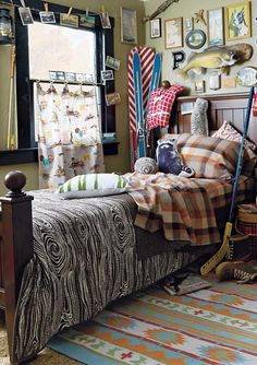 camp quilt bedding rustic boys room design