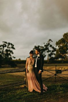 This Bride Wore Pink & She Couldn't Have Looked More Beautiful #refinery29  http://www.refinery29.com/once-wed/11#slide-9  We love the rustic feel of their venue. It doesn't get more country than a ranch....