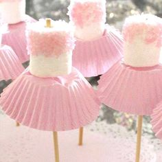 Ballerina Marshmallows. So cute and So Easy