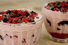 Lalakitchen Desayuno Cremoso de Semillas Chía y Frutas Rojas