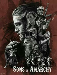 """Sons of anarchy artwork poster superior satin canvas huge size 20"""" x 30"""""""