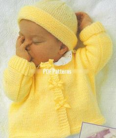 Looking for your next project? You're going to love Baby Easy Coat & Hat Knitting Pattern by designer pdfpatterns.