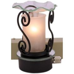 Frosted Glass Design Plug In Burner Wax Tart Oil Warmer Wall Outlet Night Light #Unbranded