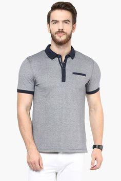 b4a8946dcee7e Mens Short Sleeves Slim Fit Slub Polo T-Shirt