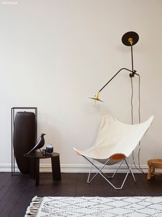 black & white lover with Elisabeth Heier Interior Photo, Interior Styling, Interior Design, Jotun Lady, Off White Paints, Butterfly Chair, Take A Seat, Wall Colors, Paint Colours