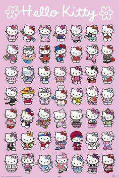 Hello Kitty Poster!  Wow, so many Hello's