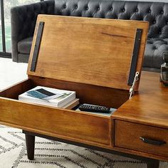 Lars Mid-Century Storage Coffee Table #westelm