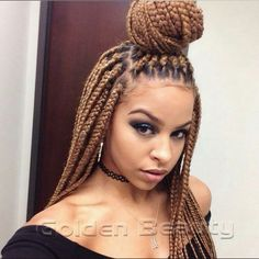 Free Shipping Outre Xpression Crochet 3D Braid 18'' Blonde Burgundy Color Handmade Box Braids Senegal Hair Extension(China (Mainland))