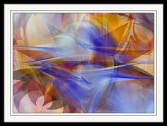 "Framed Print featuring the digital art ""Distant Horizons"" - Digital Abstract by rd Erickson"