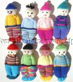 Knitted Comfort Dolls | ... Comfort Doll Knitting Pattern Easy to Make 5 Inch knitted Pocket Doll