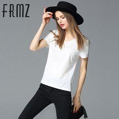 High Quality S-4XL Summer T-Shirt Women Cotton Elastic Basic T-shirts Female Casual Tops Short Sleeve Solid T-shirt Tees 36354