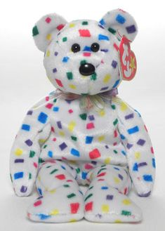Ty Ty Beanie Baby bear, reference information and photograph. Beanie Babies Value, Beanie Baby Bears, Ty Beanie Boos, Ty Bears, We Bare Bears, Ty Babies, Baby Kids, Ty Plush, Ty Toys