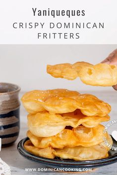 These delicious, crunchy, flaky, deep-fried Yaniqueque wonders are a must-have on a visit to Boca Chica, the popular Dominican beach. #fritters #crispyfritters #dominicanfritters #dominicanrecipe #dominicancooking #simplebyclara @SimpleByClara | dominicancooking.com
