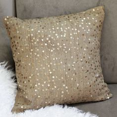 """you can't wear stuff like this 24/7, so why not have it on a #pillow? """"random sparkle pillow cover"""" $44"""