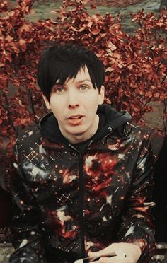 Phil looks really cute but slightly like he wants to sneeze in this photo.
