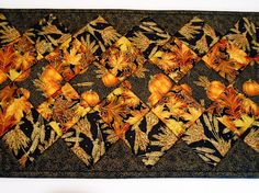 Elegant Fall Quilted Table Runner Autumn Table Topper