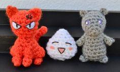 Adorable Fruits Basket manga crochet patterns - these are soooo good!
