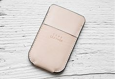 5005leather / Phone Case - Natural
