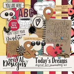 Todays Dreams is a digital art journaling kit designed to inspire you to capture your day dreams. It contains 15 papers and over 30 unique, coordinating elements to play with.