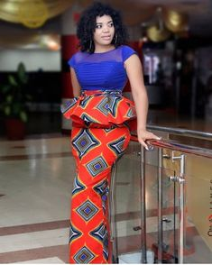 Fabulous Ankara Straight Skirt and Peplum Blouse Designs 2019 for Ladies.Fabulous Ankara Straight Skirt and Peplum Blouse Designs 2019 for Ladies Latest African Fashion Dresses, African Dresses For Women, African Print Dresses, African Print Fashion, Africa Fashion, African Attire, African Wear, Ankara Fashion, African Prints