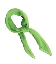 Lime Green Retro Chiffon Scarf