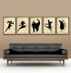 Justice League Poster Set of 5 for 50 Dollars  by Posterinspired, $50.00