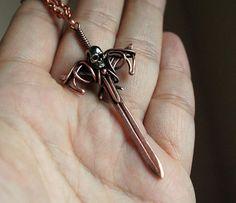 Sword Pendant  Fantasy Copper Sword Pendant Necklace