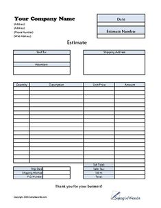 Free Construction Quote Template Free Contractor Estimate Form - Fence estimate template