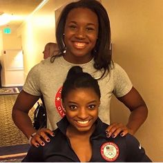 Swimmer Simone Manuel and gymnast Simone Biles, Olympic gold medalists. Rio… : Swimmer Simone Manuel and gymnast Simone Biles, Olympic gold medalists. Simone Biles, African American Culture, African American Women, African Americans, Black Girls Rock, Black Girl Magic, Simone Manuel, Black Pride, Female Athletes