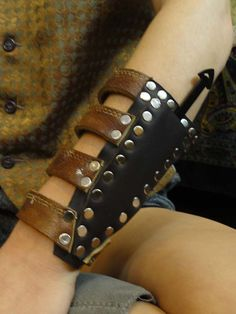 """GateKeeper Arm Guard/ Knife Sheath  by morethanmammalinc on Etsy, $68.00""~ I love this, and I want one."