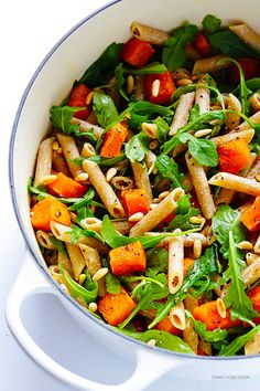 5-Ingredient Butternut Squash, Arugula and Goat Cheese Pasta... | Gimme Some Oven | Bloglovin'