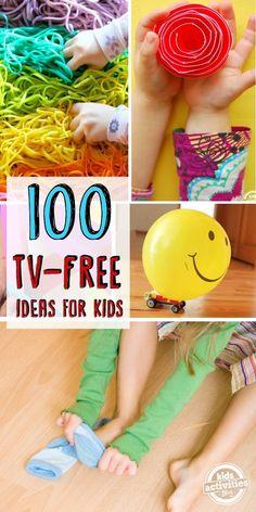 100 tv free activities for kids
