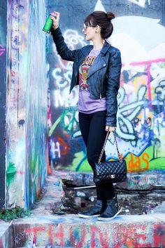 Look rocker e grafites por Austin | Danielle Noce