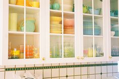 ...colourful cupboards..