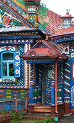 Door to the house, Sverdlovsk region