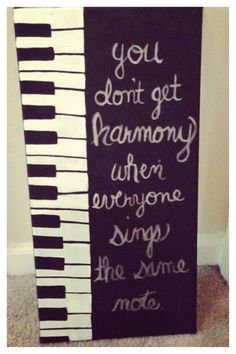 Piano Canvas Quote Painting by MeghansCreations1 on Etsy