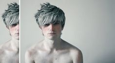 Jack Frost cosplay by ~Hayuko << he definitely has the right bone structure/facial features for it, is spot on.