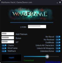 WARFRAME Hack http://gamezterror.com/warframe-hack/
