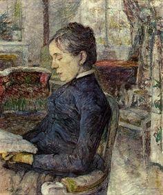 Comtesse a. de Toulouse-Lautrec in the Salon at Malrome (Henri de Toulouse-Lautrec - 1887)