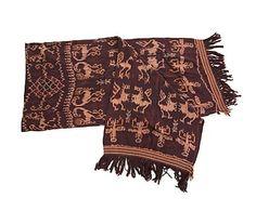 Tapiz decorativo de algodón, marrón - 220x90 cm