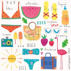 illustrations by Sally Payne http://sallypayne.com/page/2/ holidaylist
