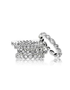 The perfect multi-ring look. No ring is the same, but kept in the same style. #PANDORA #PANDORAring