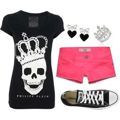 Shorts a tad bit longer & instead of the chucks i am thinking super cute sandals or flats[lace toms or ballet flat toms]